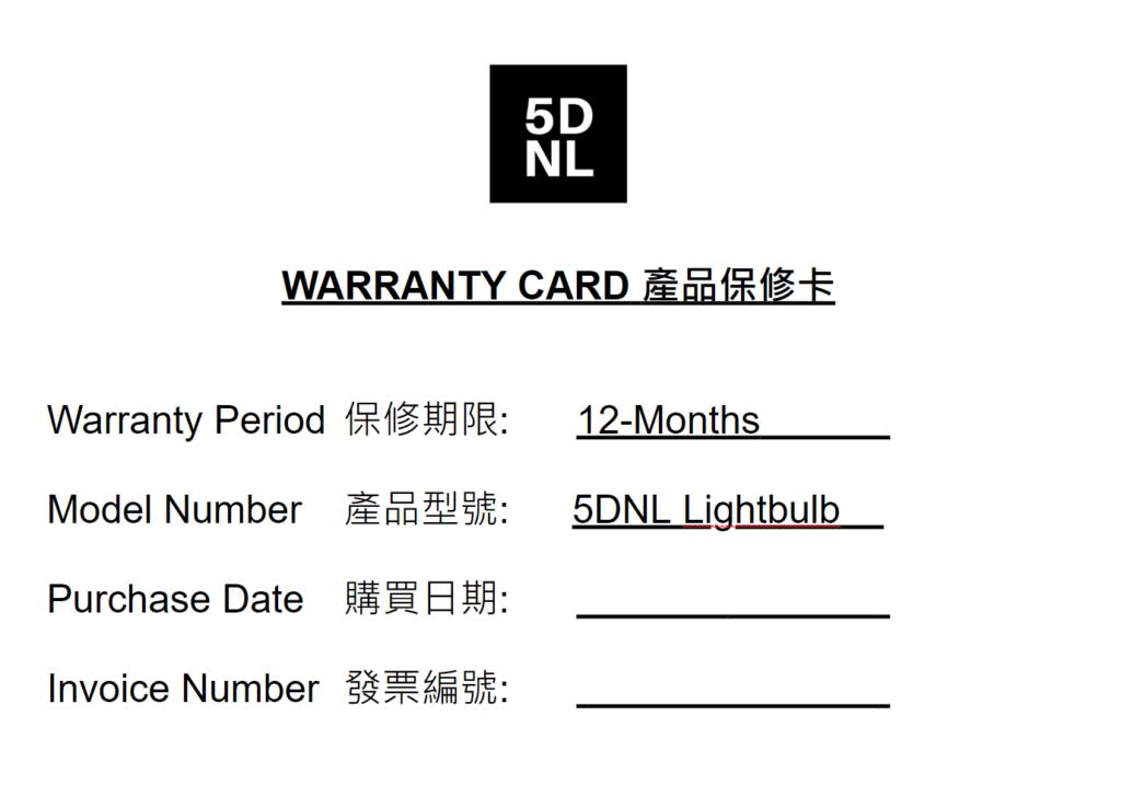 5DNL_Warranty_Card